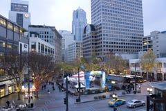 Feiertagsdekoration im Stadtzentrum gelegenes Seattle Stockbilder