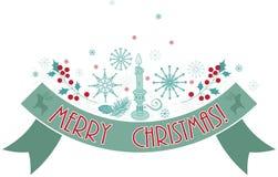 Feiertagsfahne der frohen Weihnachten. Stockfotos