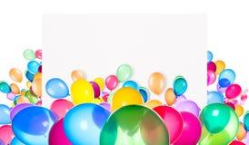 Feiertagsfahnen mit bunten Ballonen Lizenzfreies Stockfoto