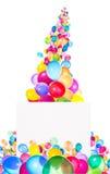 Feiertagsfahnen mit bunten Ballonen Lizenzfreies Stockbild