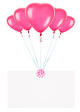Feiertagsfahnen mit Valentinsgrußballonen Lizenzfreie Stockfotos