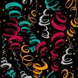 Feiertagsfarbbänder und Confettimuster vektor abbildung