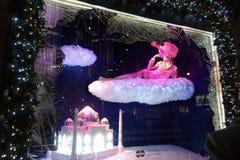 Feiertagsfenster auf Fifth Avenue Stockfotografie
