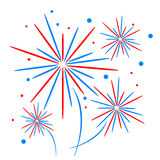 Feiertagsfeuerwerk Lizenzfreie Stockfotos