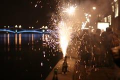 Feiertagsfeuerwerk Stockbild