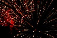 Feiertagsfeuerwerke im Himmel Stockfoto