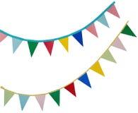 Feiertagsflaggen auf einem Weiß Stockbilder