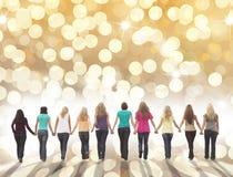 Feiertagsfraufreundschaft Lizenzfreie Stockfotos