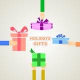 Feiertagsgeschenke vektor abbildung