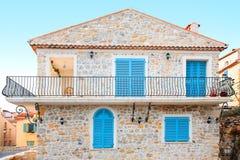 Feiertagshaus in Antibes Frankreich Stockbild