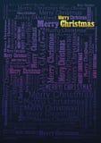 Feiertagshintergrund der frohen Weihnachten vektor abbildung