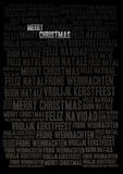 Feiertagshintergrund der frohen Weihnachten lizenzfreie abbildung