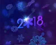 Feiertagshintergrund des neuen Jahres 2018 Vektor eps10 Stockfotos