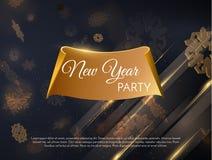 Feiertagshintergrund des neuen Jahres Vektor eps10 Stockbilder