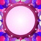 Feiertagshintergrund mit Ballonrahmen Stockfotos
