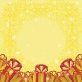 Feiertagshintergrund mit Geschenkkästen vektor abbildung