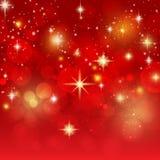 Feiertagshintergrund mit goldenem bokeh Vektor Lizenzfreie Stockfotos