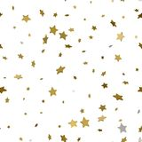 Feiertagshintergrund, nahtloses Muster mit Sternen Stern Co des Gold 3d Stockfotografie