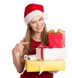 Feiertagskäufer Stockbilder