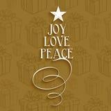 Feiertagskarte der frohen Weihnachten Stockbild
