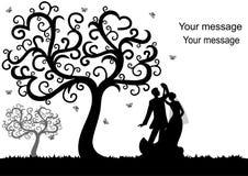 Feiertagskarte mit den Jungvermählten Lizenzfreie Stockbilder