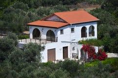 Feiertagslandhaus in Zypern Lizenzfreie Stockbilder