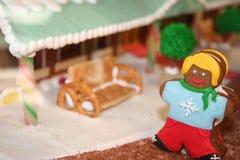 Feiertagslebkuchenmädchen Stockfotografie