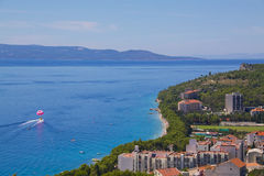 Feiertagsrücksortierung auf Makarska Riviera Lizenzfreies Stockfoto
