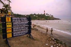 Feiertagsrücksortierung im kovalam, Kerala Lizenzfreie Stockbilder