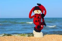 Feiertagsreiseziele des guten Rutsch ins Neue Jahr und der frohen Weihnachten im heißen Landkonzept Lizenzfreies Stockfoto