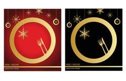 Feiertagsvektorabbildung mit Gabel, Orange und Anis Stockbilder