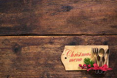 Feiertagsvektorabbildung mit Gabel, Orange und Anis Lizenzfreies Stockfoto