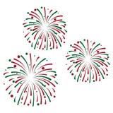 Feiertagsvektorillustration Festliche Feuerwerke oder Konfettis d lizenzfreie abbildung