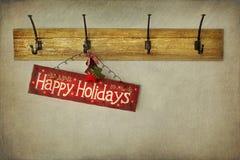 Feiertagszeichen auf antiker Pflasterwand Lizenzfreies Stockbild
