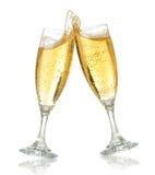 Feiertoast mit champag Stockbilder