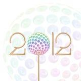 Feiervektorhintergrund des neuen Jahr-2012 Stockbilder