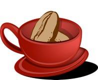 Feijão da chávena de café Fotografia de Stock Royalty Free
