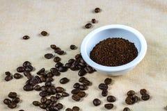 Feijão de café, copo foto de stock royalty free