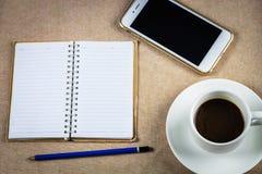 Feijão de café, copo, livro, móvel foto de stock
