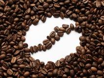 Feijão de café em feijões de café Fotografia de Stock Royalty Free
