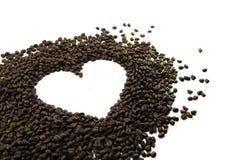 Feijão de café isolado no fundo branco Foto de Stock