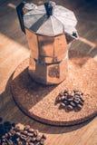 Feijão de café no vidro Imagem de Stock Royalty Free