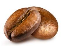 Feijão de café roasted dois Fotografia de Stock