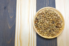 Feijão de café Unroasted Foto de Stock Royalty Free