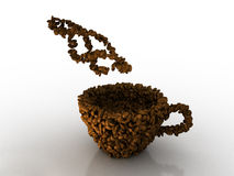 Feijão de Cofee imagens de stock royalty free