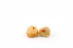 Feijão de Mung chinês da pastelaria com gema, Fotos de Stock Royalty Free