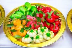 Feijão de soja triturado chapeado pela gelatina Fotografia de Stock