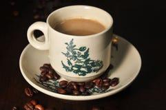Feijão do copo de café Imagens de Stock Royalty Free