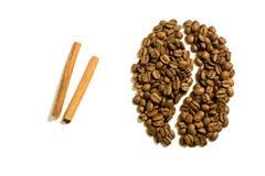 Feijão e canela de café Fotos de Stock Royalty Free