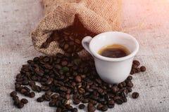 Feijão roasted, textura agradável de Coffe Imagens de Stock